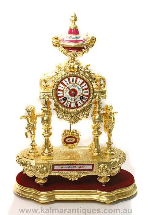 Antique gilded clock