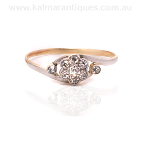 Antique diamond cluster ring Sydney