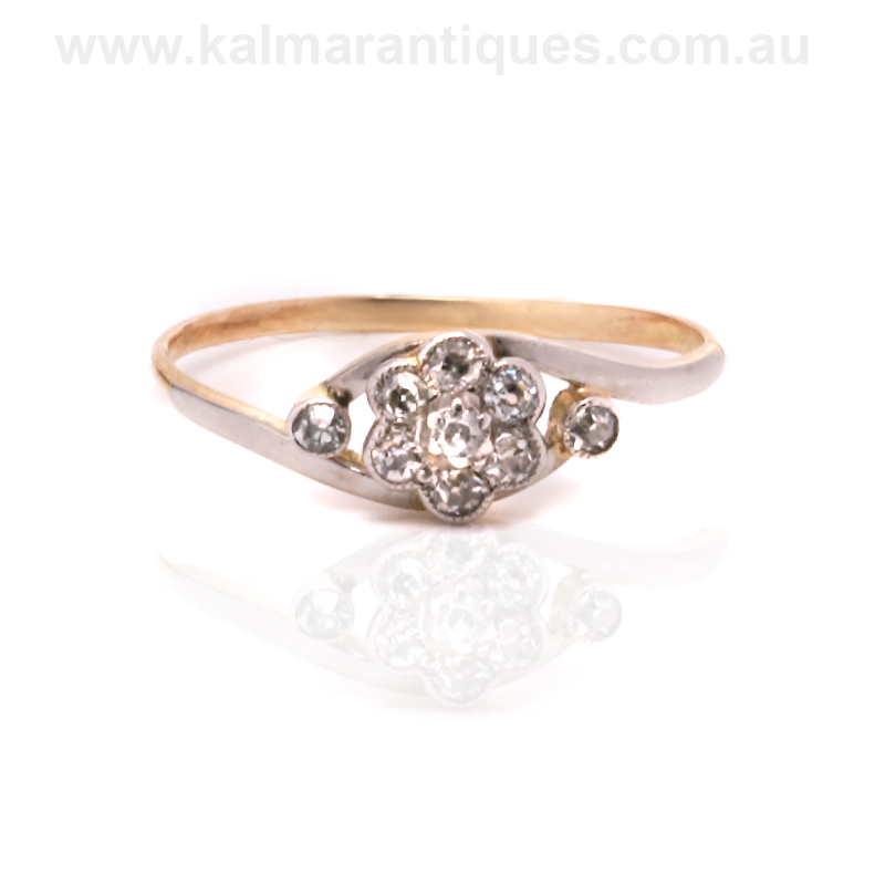 antique cluster engagement ring from the early 1900 s