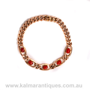 Antique coral bracelet
