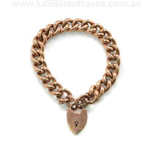 Antique rose gold curb bracelet