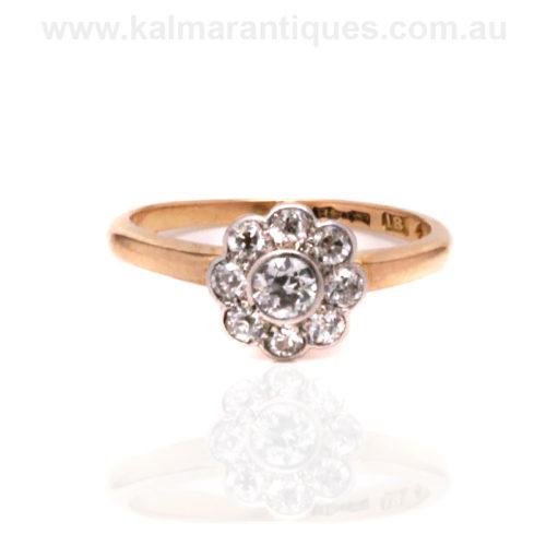 Antique diamond engagement ring Sydney. Vintage diamond engagement ring Sydney