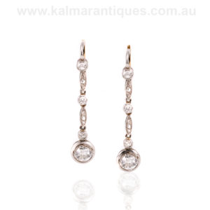 Antique Art Deco diamond drop earrings