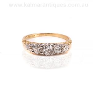 Antique diamond engagement ring