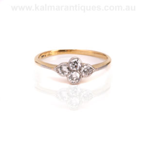 Antique diamond engagement ring Sydney and Melbourne