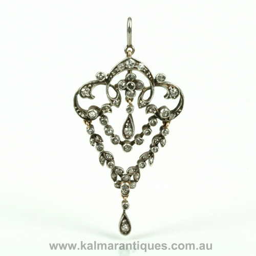 Antique diamond pendant that converts to a brooch dating from the 1890's.