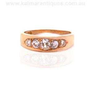 Antique diamond engagement ring Australia