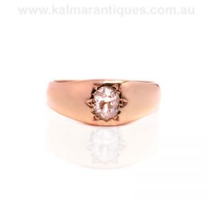 18ct antique European cut diamond ring from the 1890's