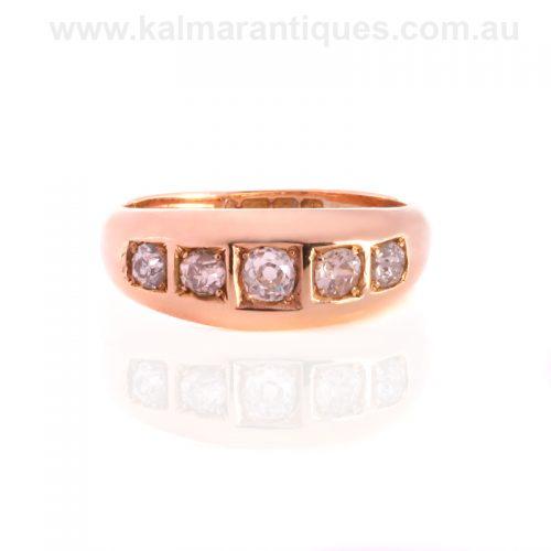 18ct antique European cut diamond ring made in 1914