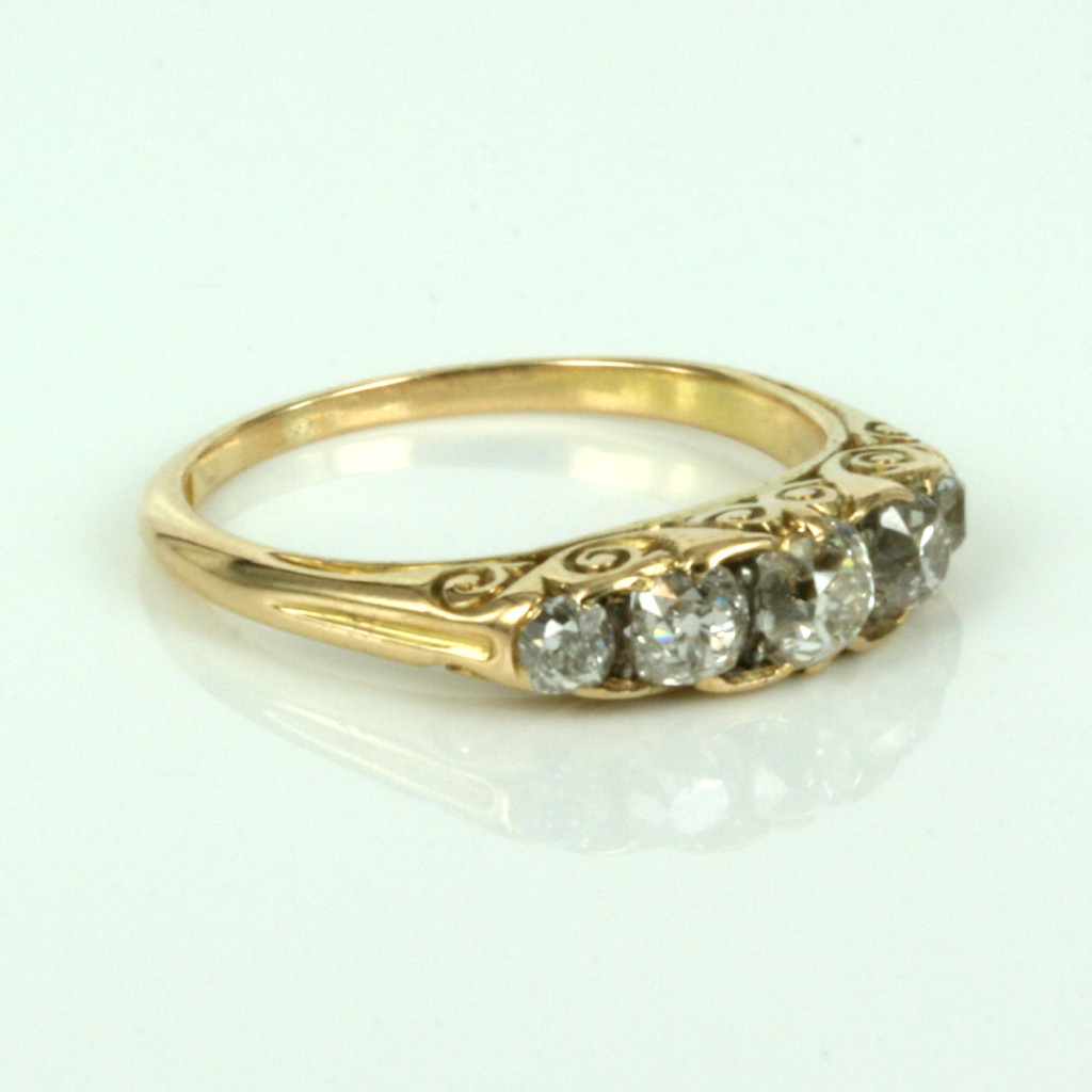 Buy 18ct antique diamond engagement ring in yellow gold Sold Items Sold Rin