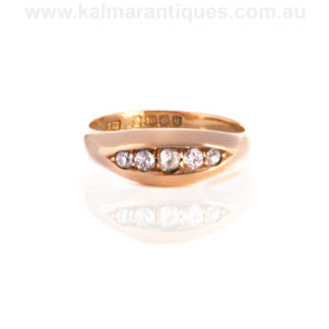 Antique diamond ring made in 1915