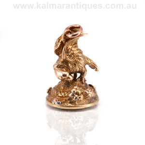 Antique seal set with an eagle