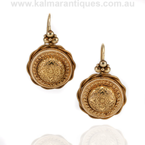 Antique 15ct gold earrings