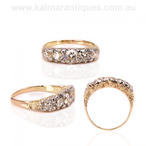 Late 19th Century antique diamond engagement ring