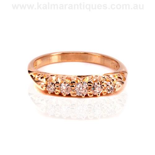 Antique 18ct rose gold antique engagement ring
