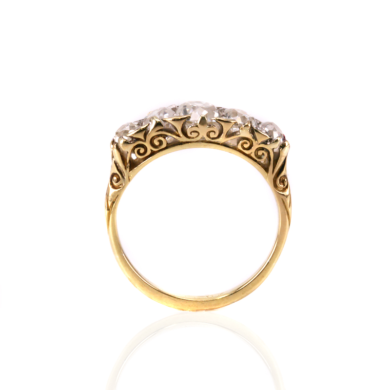 18ct yellow gold victorian antique diamond engagement ring. Black Bedroom Furniture Sets. Home Design Ideas