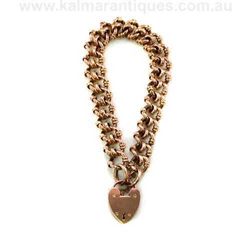Antique fancy rose gold bracelet