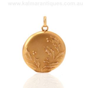 Antique 18ct gold French Art Nouveau photo locket