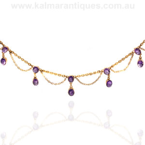 Antique amethyst fringe necklace