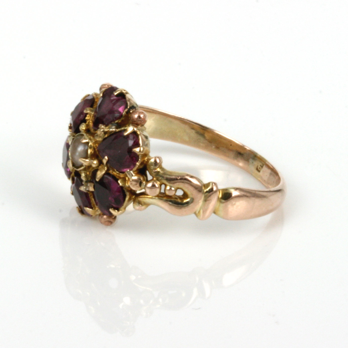 buy antique victorian era garnet and pearl ring sold items