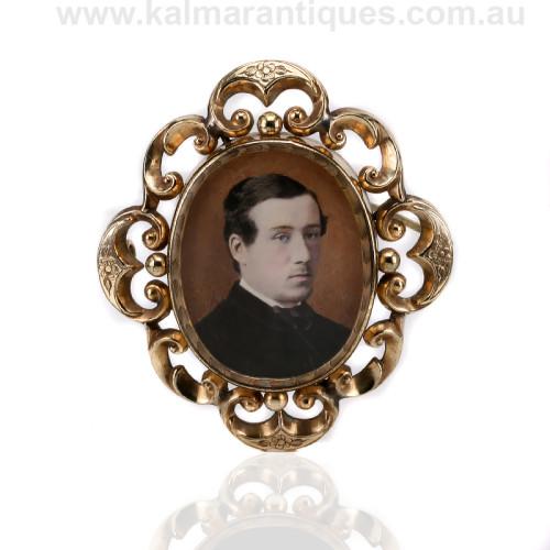 antique daguerreotype brooch