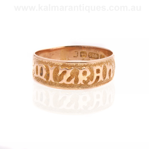 Antique Mizpah ring