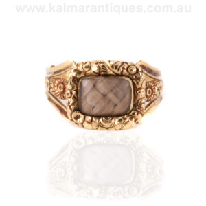 Antique Georgian mourning ring