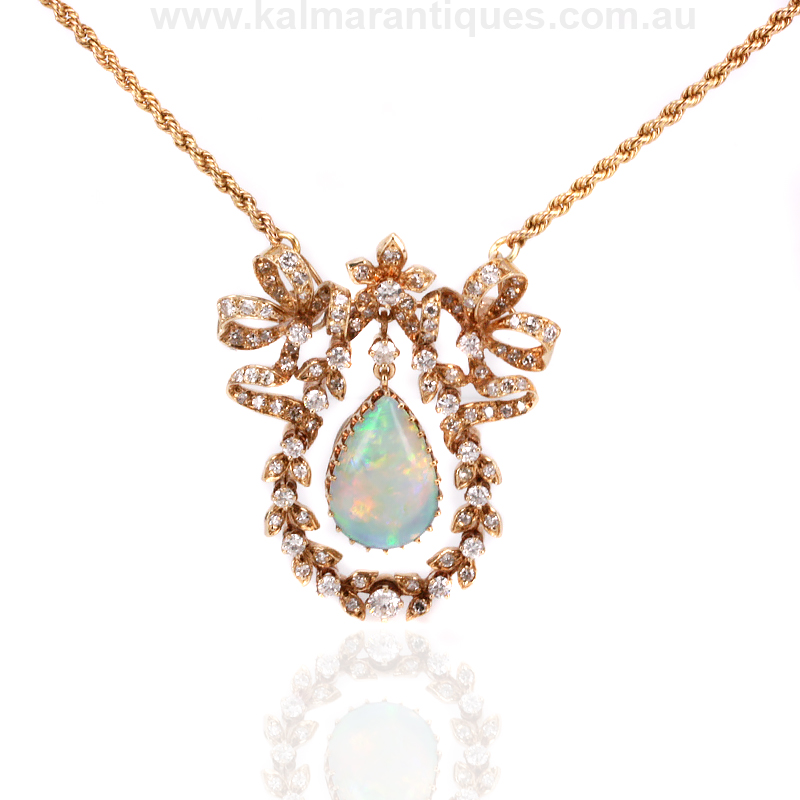 Buy antique pendant vintage antique pendant antique jewellery in antique opal and diamond pendant mozeypictures Gallery