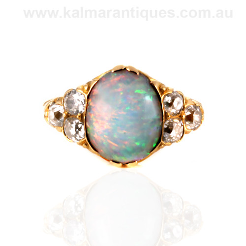 Antique opal and diamond ring Sydney