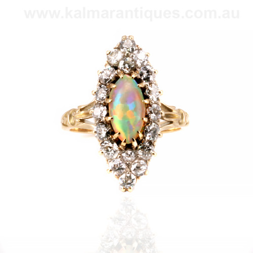 Antique opal and diamond ringSydney