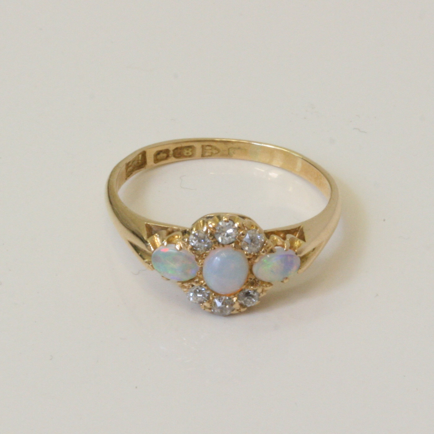 Opal And Diamond Ring Vintage