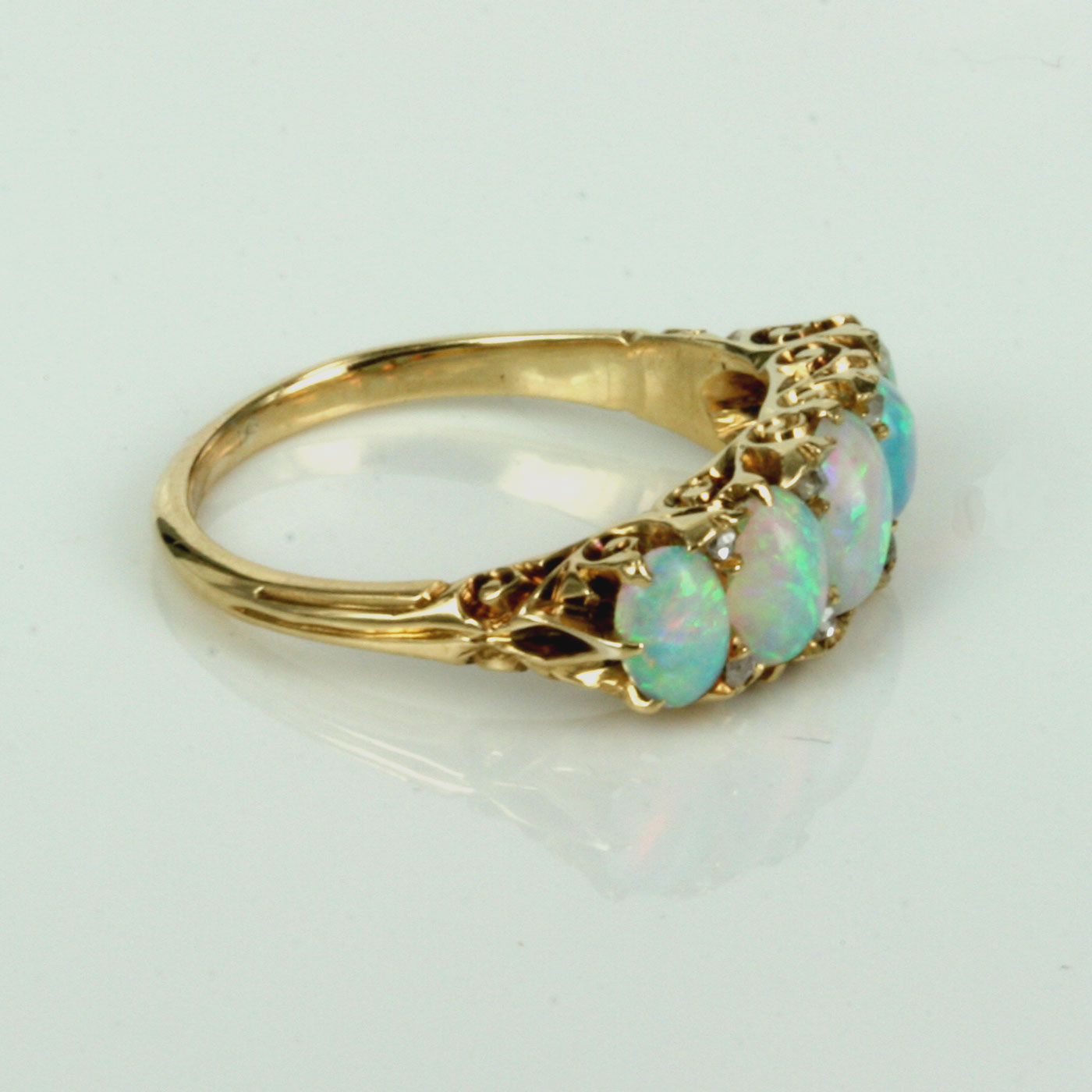 Buy Antique Opal Amp Diamond Ring Made In The Early 1900 S