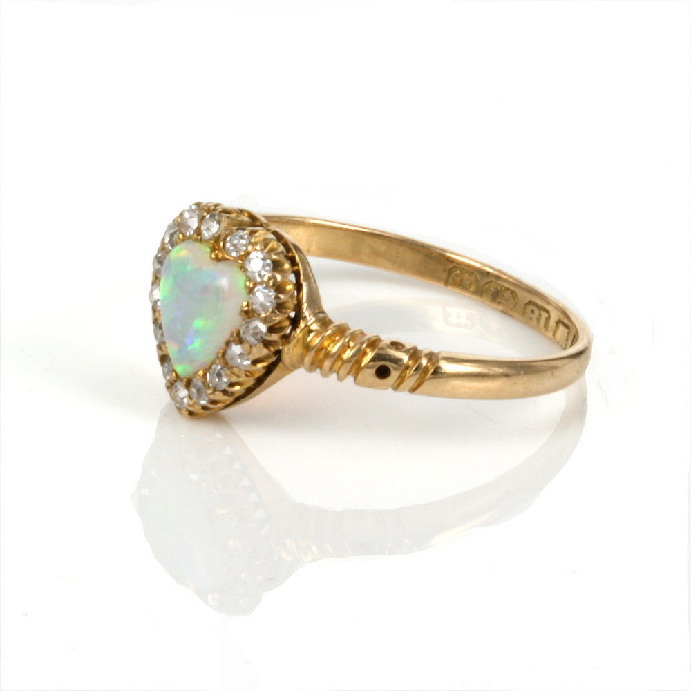 Buy Antique Opal And Diamond Ring Made In 1894 Sold Items