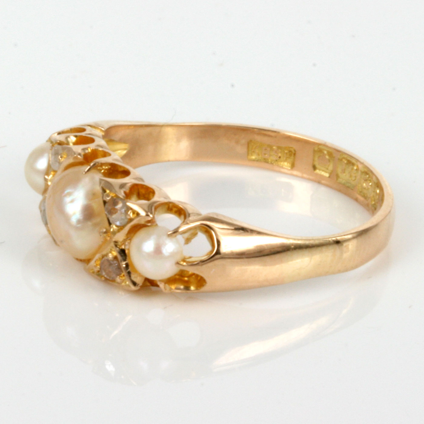 buy antique pearl diamond ring made in 1904 sold items. Black Bedroom Furniture Sets. Home Design Ideas