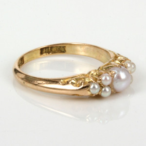 Antique pearl ring by Louis Cadby