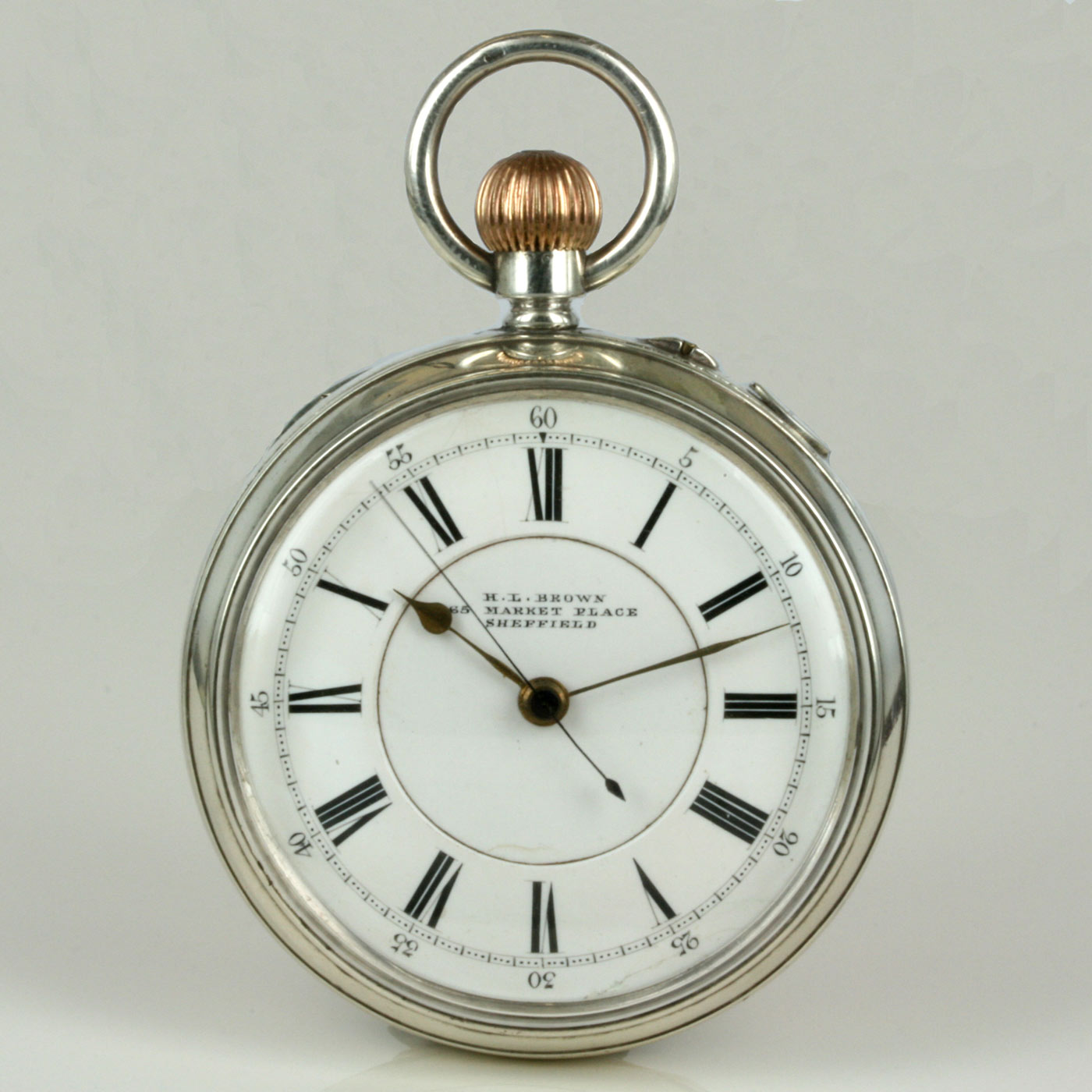 Buy Silver Antique Pocket Watch By Hl Brown Sold Items Sold