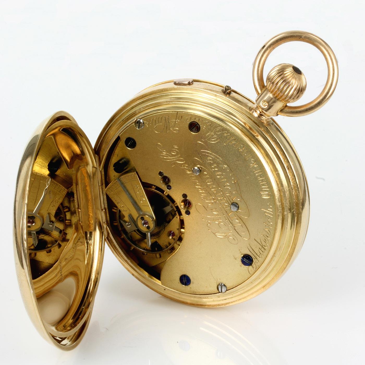 J. HARGREAVES & Co. STOP-WORK 18K SOLID GOLD POCKET …