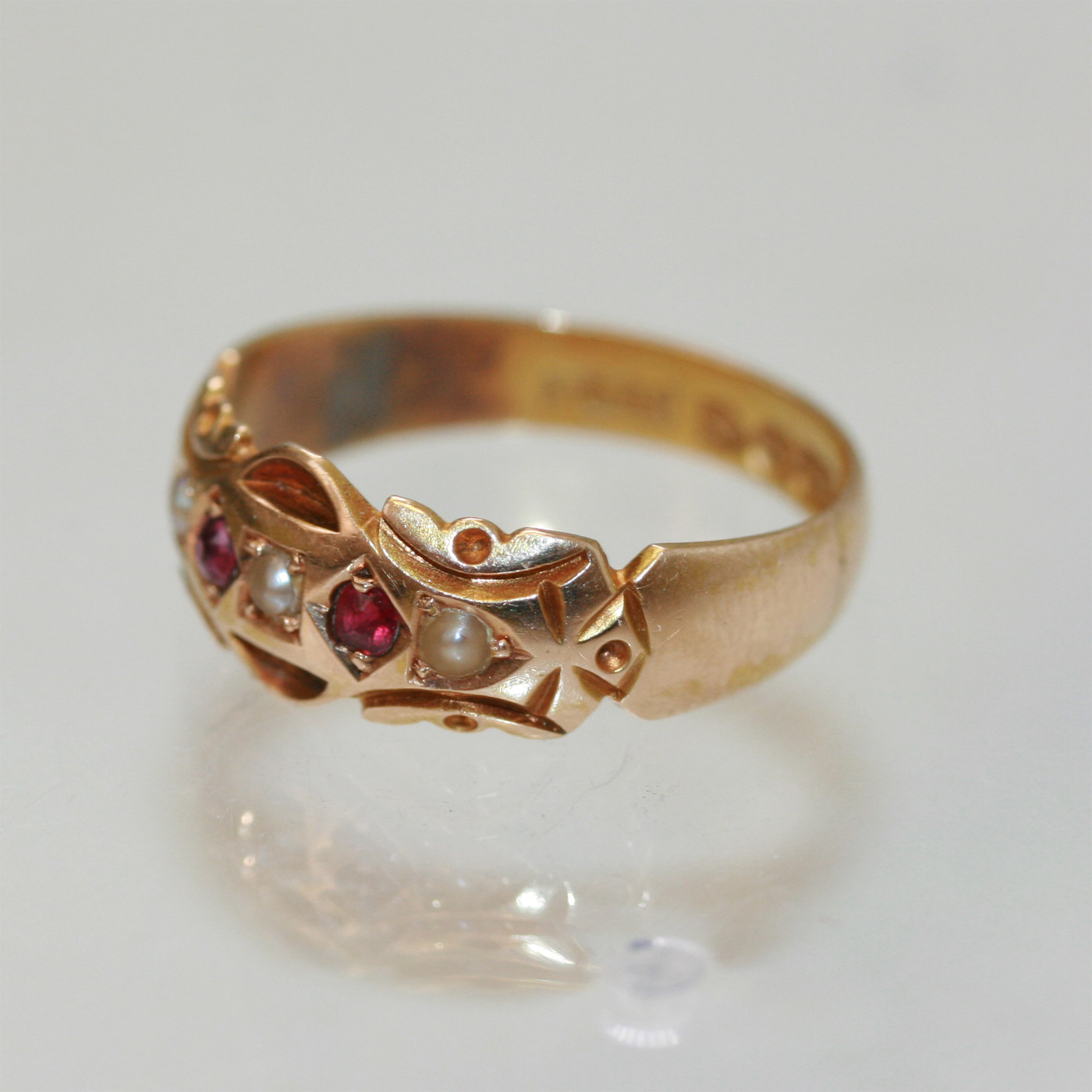 buy ruby and pearl antique ring sold items sold rings
