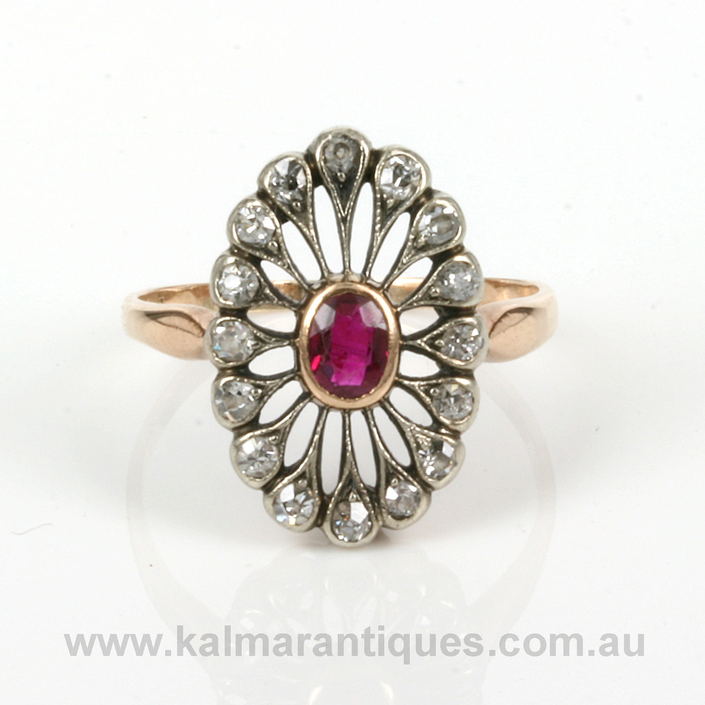 Buy Art Deco ruby and diamond ring made in Poland Sold Items Sold