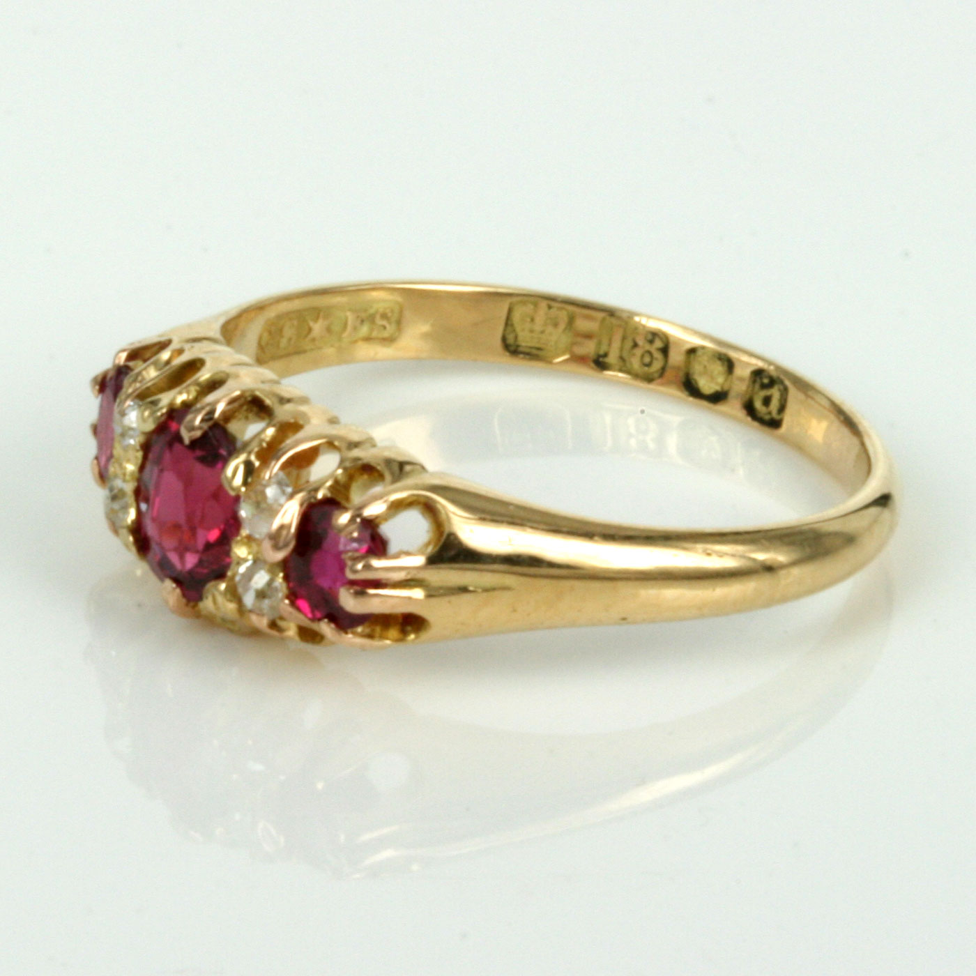 buy antique ruby and ring made in 1896 sold items