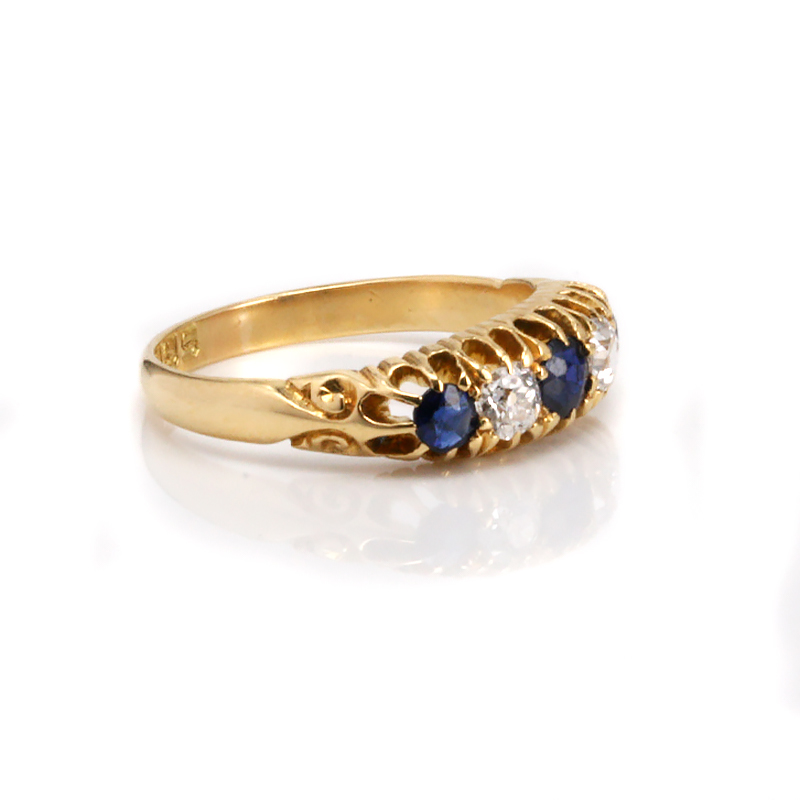 antique sapphire and ring