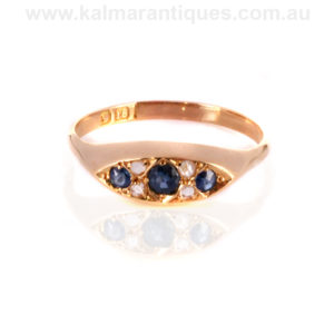Antique sapphire diamond ring Sydney
