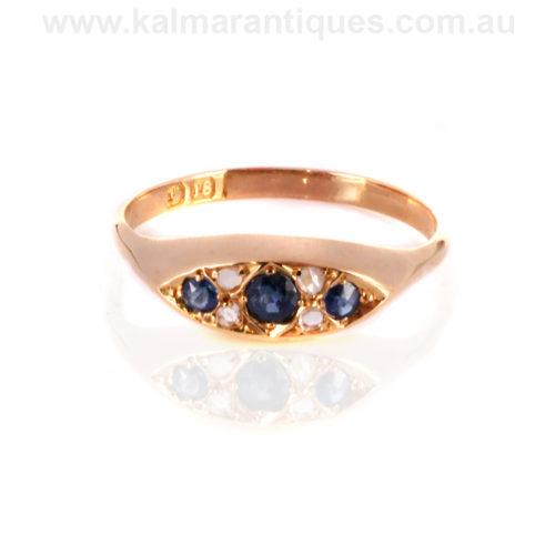 Antique sapphire diamond ring Sydney