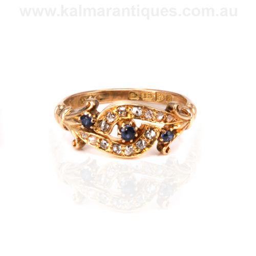 Antique sapphire and diamond ring Sydney