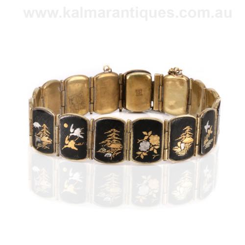 Antique shakudo bracelet