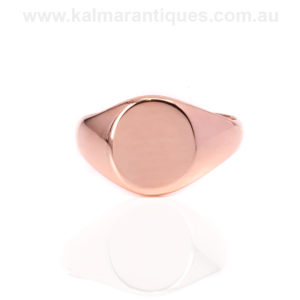 Antique rose gold signet ring