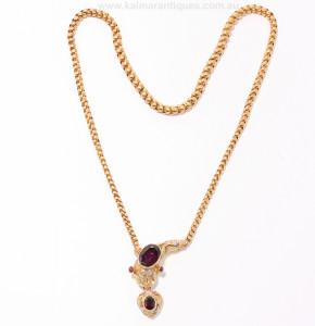 Antique snake necklace circa 1860