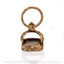 Antique Victorian seal in 12ct gold