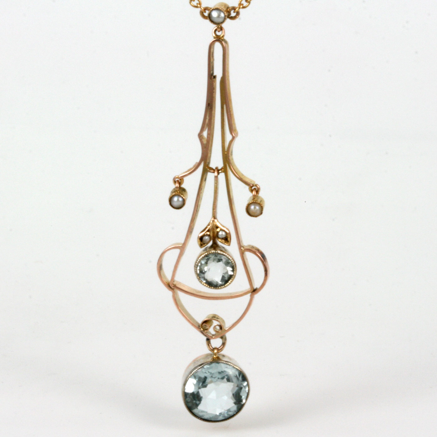 Buy Antique Edwardian Era Aquamarine And Pearl Necklace