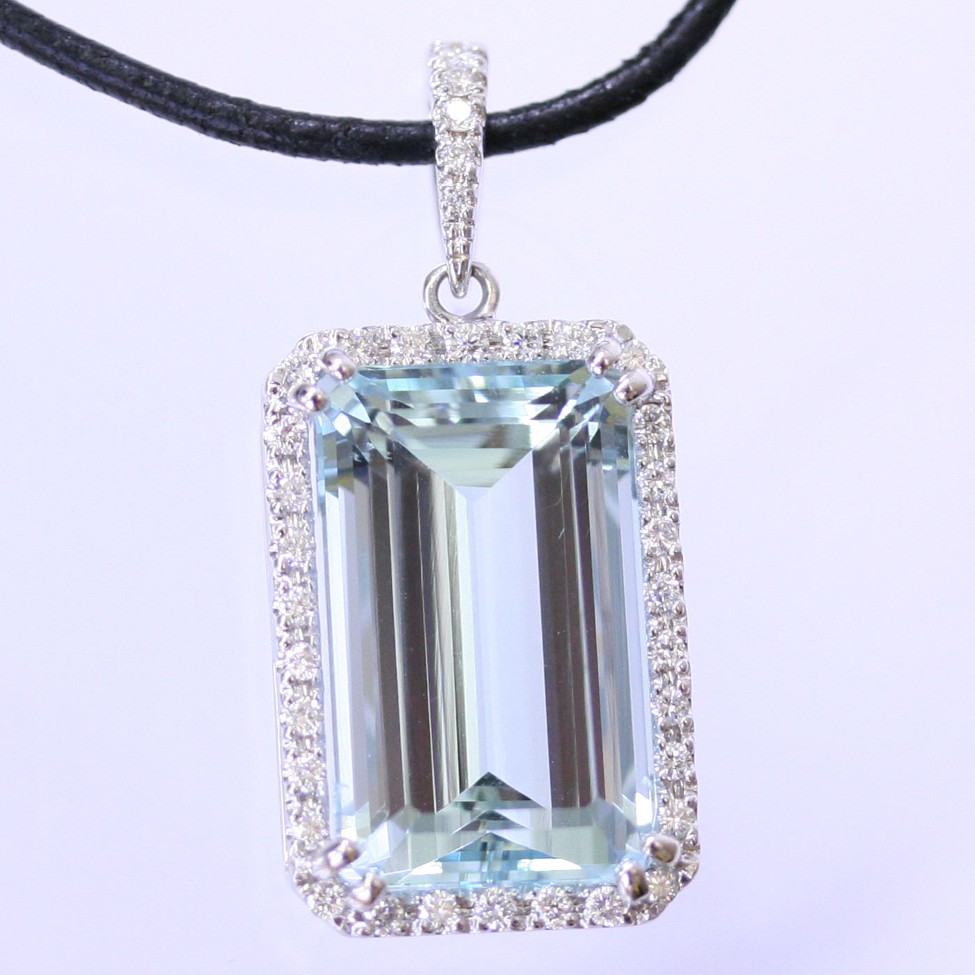 aquamarine pendant rectangular sterling silver aqua grams pos